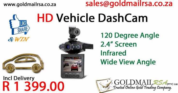 HD Dashcam With Nightvision (120 degree)
