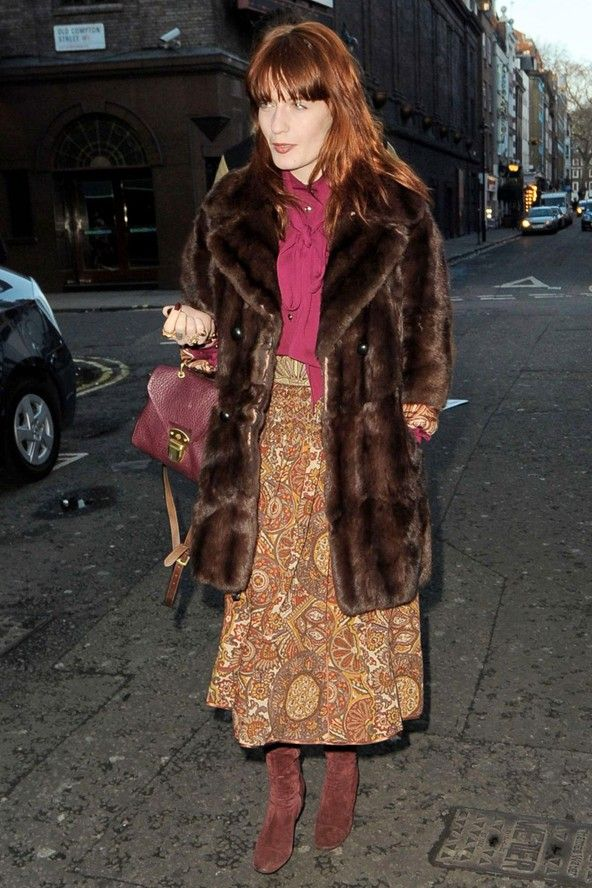 Florence Welch On The Street In London Celebrity Fashion