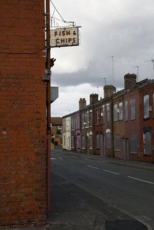 Credit: Martin Parr Manchester: Terraced houses in Seedley