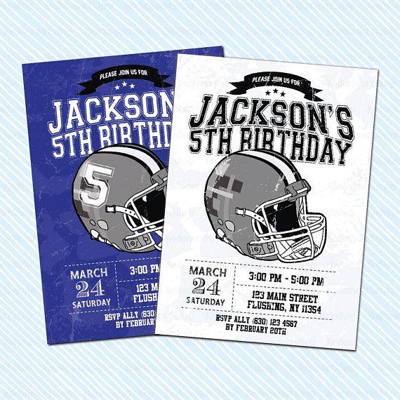 Digital Printable Football Birthday Invitation. sport Birthday. American Football Birthday