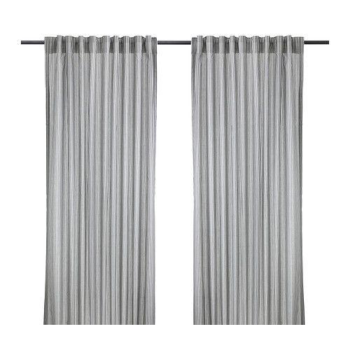 IKEA - GULSPORRE, Tenda, 2 teli, , Le tende attenuano la luce e impediscono di vedere all'interno della stanza, salvaguardando la tua privacy.Le tende si possono appendere su un bastone per tende o sul binario per tende.Puoi appendere le tende a un bastone per tende usando i passanti nascosti oppure utilizzando anelli e ganci.Il nastro sul bordo superiore ti permette di creare facilmente delle pieghe usando i ganci per tenda RIKTIG.
