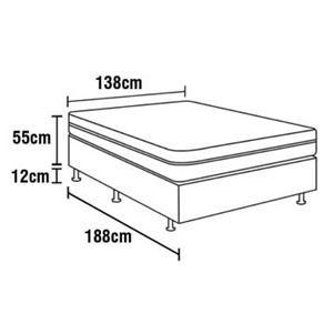 Cama Box Conjugada Hellen Casal Royal Soft com Pillow Inn e Molas Pocket 55x138x188 cm – Cinza/Branco - Cama Box Casal no Pontofrio.com