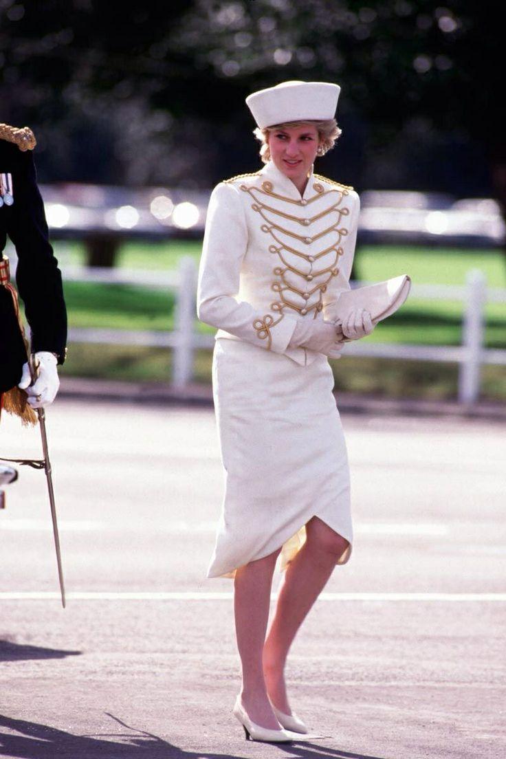 April 10, 1987: Princess Diana At The Sovereigns Parade At The Royal  Military Academy