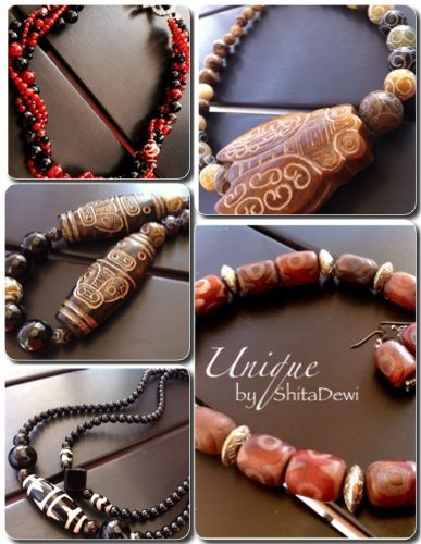 Uniquely made with love ❤️❤️❤️ Natural semi-precious stones, crafted & combined with other material Packed in ethnic Batik jewelry box   Custom order contact : uniquely.handmade168@gmail.com
