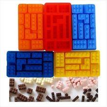 Lego Rectangular bloques de hielo la tamaño de los bloques de construcción de hielo creativa bloques de silicona del molde del hielo(China (Mainland))