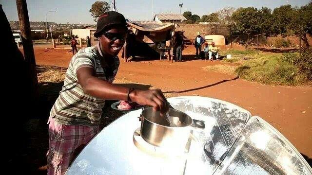 Cosinando con energia solar en Sudafrica¡¡¡
