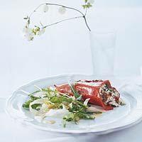 Recept - Gevulde paprika met geitenkaas en ansjovis - Allerhande