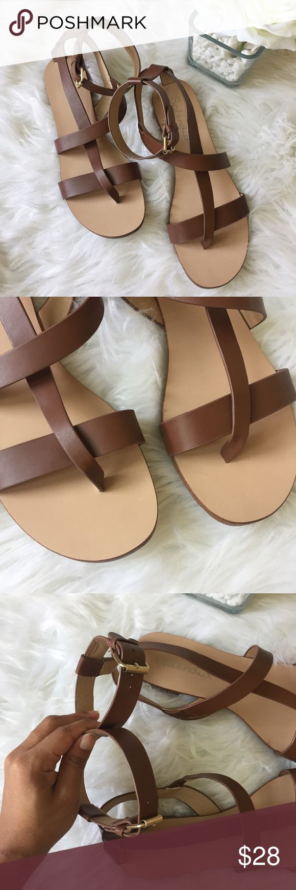 Splendid • Brown Leather Gladiator Sandals Brown leather low gladiator sandals by Splendid. In perfect condition! The only wear is on the bottoms. Size 7.5 Splendid Shoes Sandals