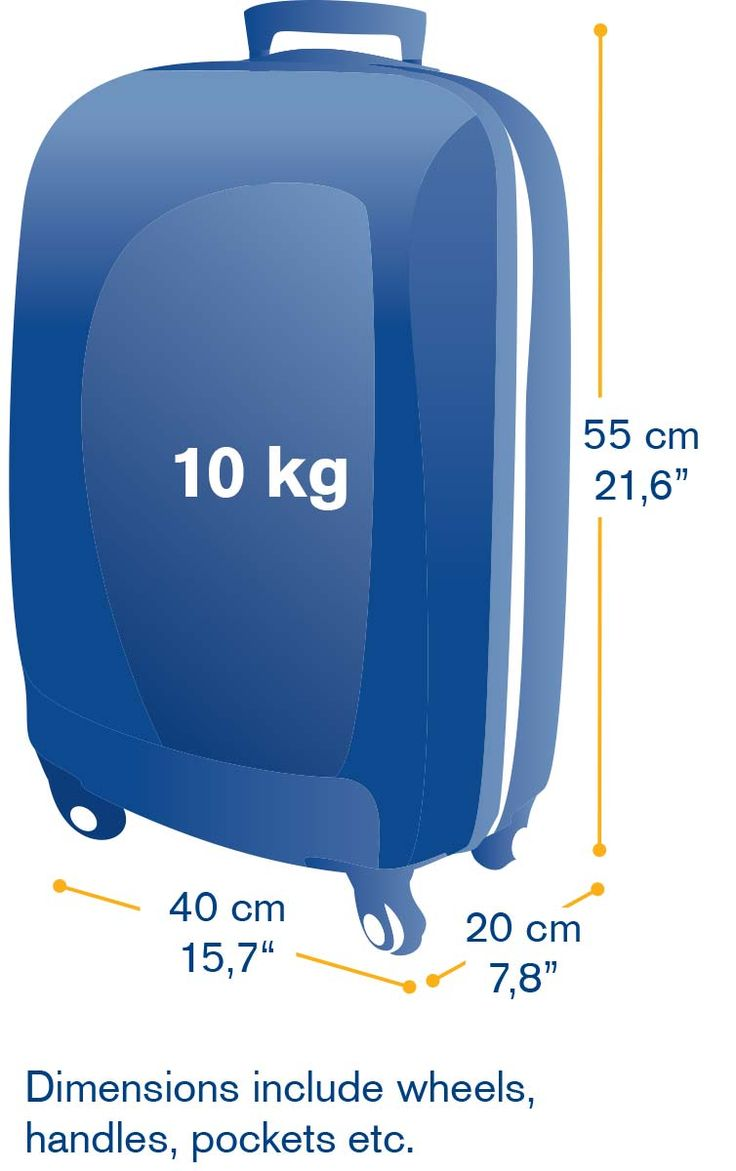 Hand luggage dimensions