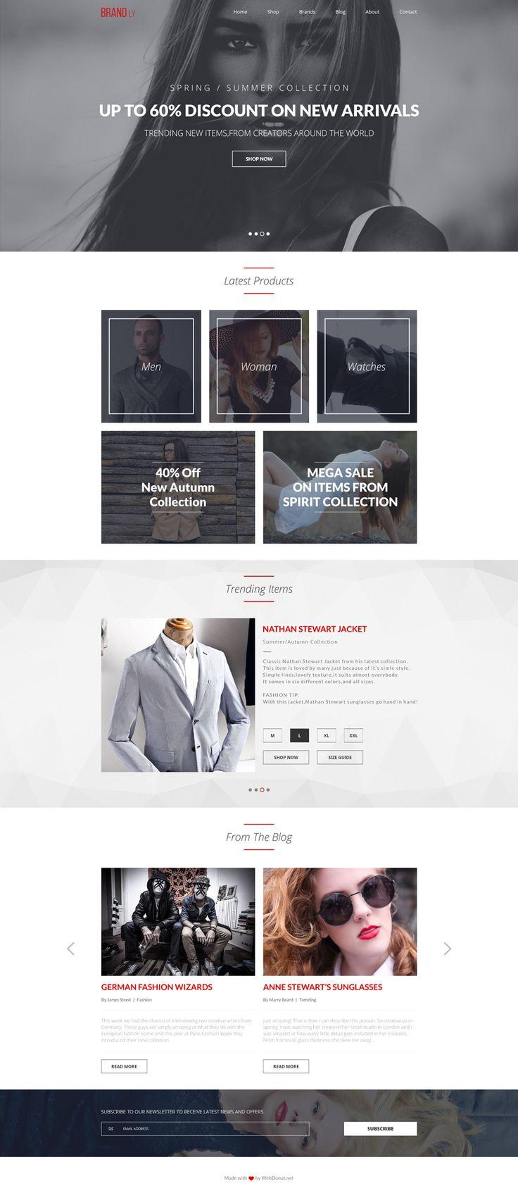 Brandly free PSD website template