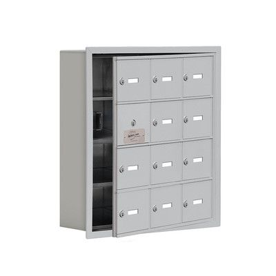 "Salsbury Industries 4 Tier 3 Wide EmpLoyee Locker Size: 24.25"" H x 22.75"" W x 8.75"" D, Color: Aluminum"