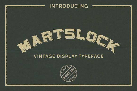 Martslock Typeface by BART.Co Design on @creativemarket