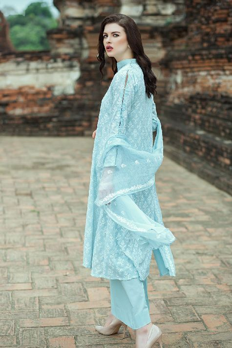de000ccde3 This beautiful Light Blue lawn unstitched Pakistani dress by Taana Baana  casual spring collection 2019#springcollection #spring #readytowear  #pretwear ...