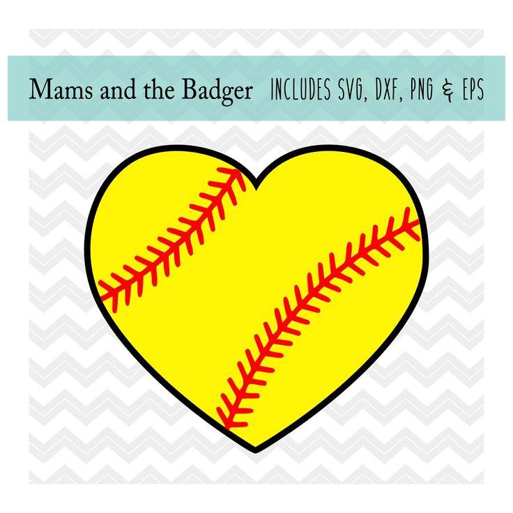 Download Softball Heart svg, Softball Love svg, Softball Heart ...