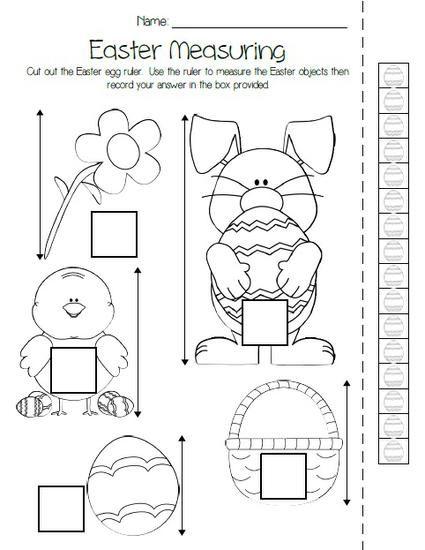 Printable Atividade de medição de Páscoa