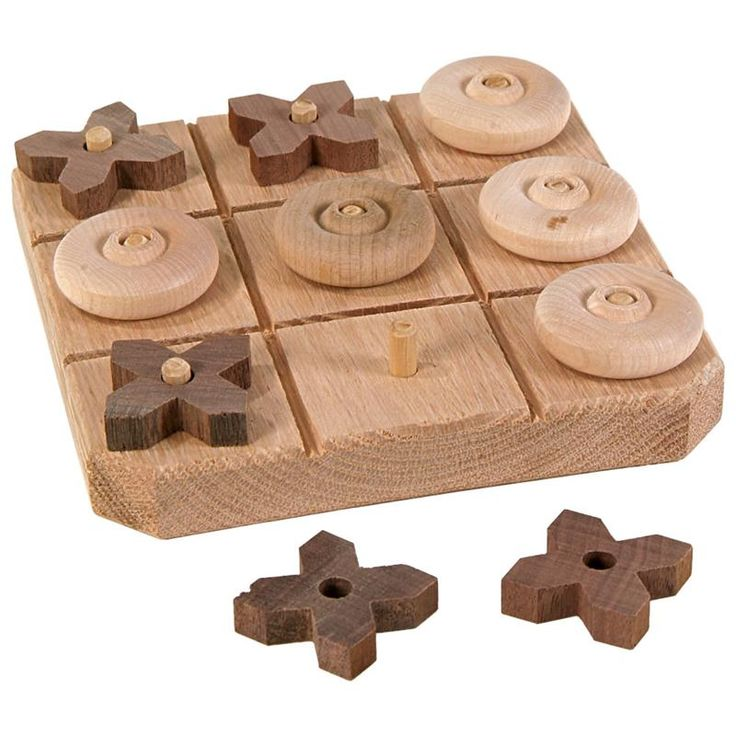 You'll love this handmade wooden tic-tac-toe game. Smooth-sanded, wooden board, raised pegs for gamepieces, crafted and signed by an Amish woodworker.