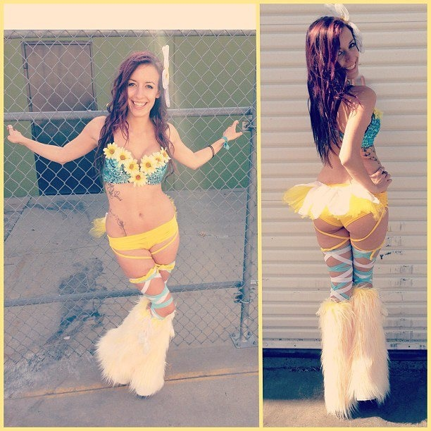 free body painted rave girl pictures