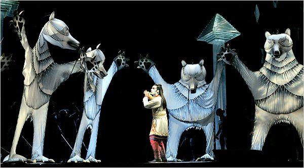 Julie Taymor's production of THE MAGIC FLUTE (Die Zauberflöte) for the Metropolitan Opera.
