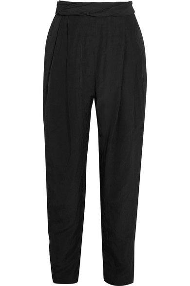 Carmen March - Taffeta Tapered Pants - Black - FR40