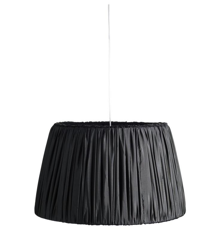 Tine K Home taklampe i silke plisse (XL) Phantom (mollys.no)