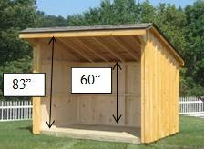 Dimensions of one of our firewood sheds