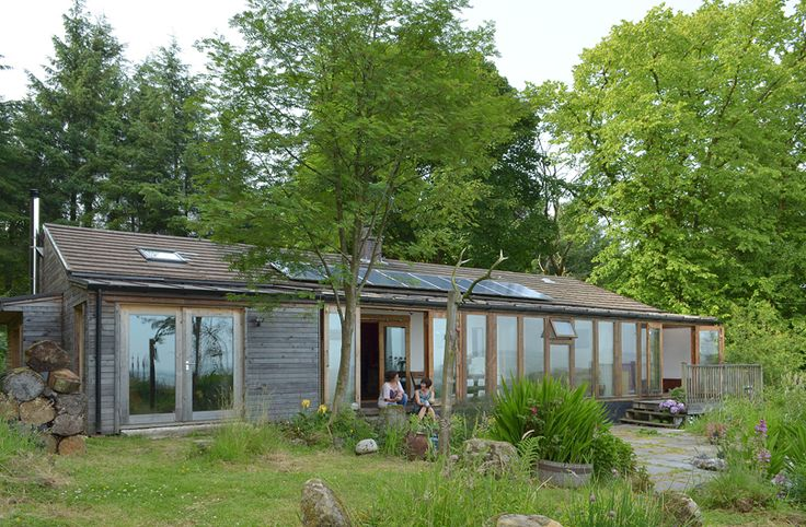 The original cabin was a lightweight and poorly insulated timber chalet. The low cost extension increases the floor area and significantly improves the insulation with over-cladding in Scottish larch and a new sunroom to capture passive solar heat.