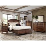 Ashley Burkesville King/Cal King/Queen Panel HBD with Storage BDRM Set - The warm burnished brown finish flowing beautifully over the frame detailing perfectly enhances the warm inviting rustic design of the Burkesville bedroom collection to create an exceptional addition to the decor of any bedroom.