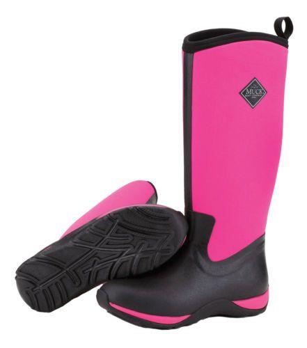 Brand New Muck Boot WAA-404 Women's BlackHot Pink Arctic Adventure Boots