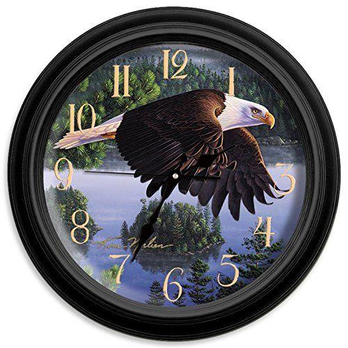 Reflective Art Wings of Destiny Classic Clock, 16-Inch