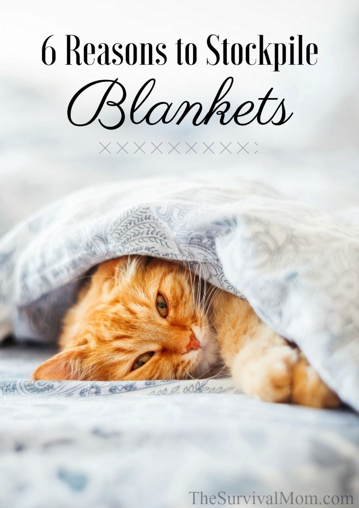 Thrift stores and yard sales may have a wide variety of cheap blankets. Blankets can serve a variety of purposes, here are 6 reasons to stockpile blankets. #preparedness #winter