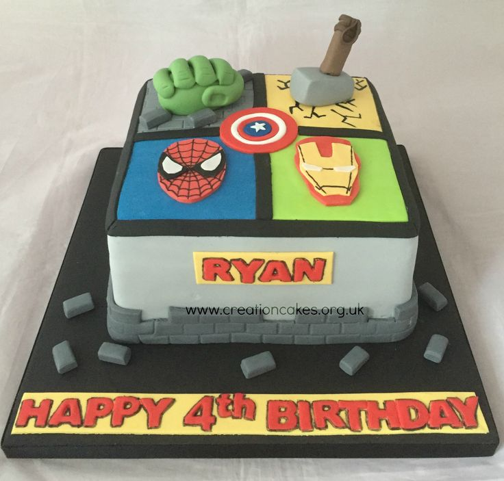 Marvel Avengers Birthday Cake