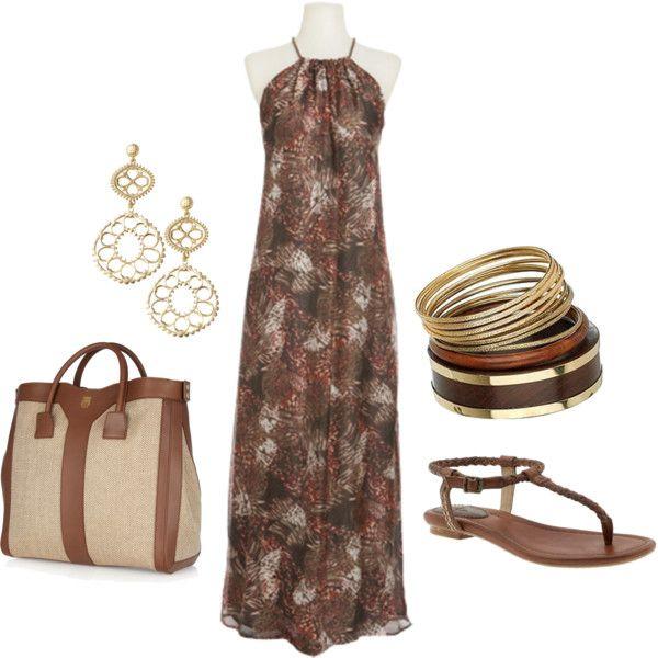Brown Maxi Dress :)