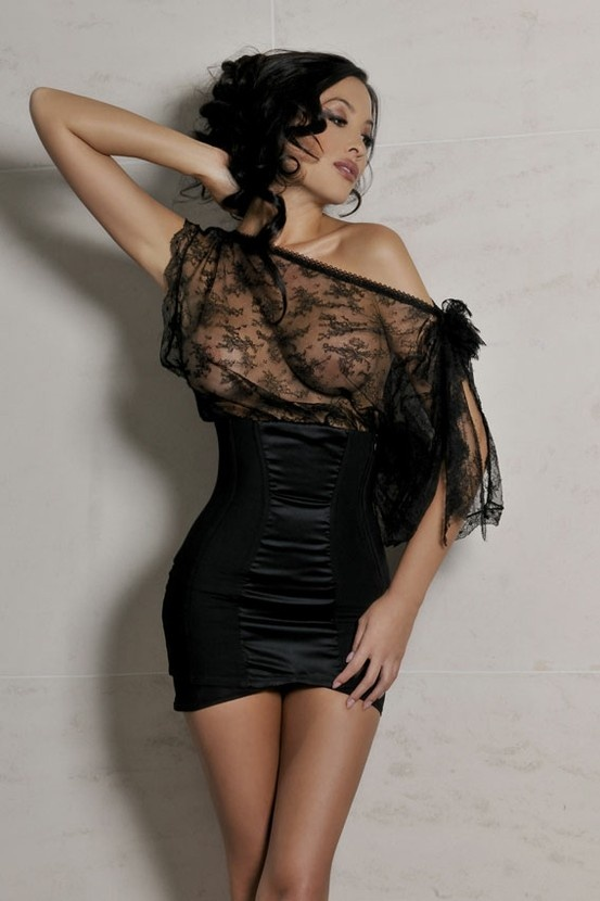 Sexy Black & #Sheer Cadolle #Lingerie