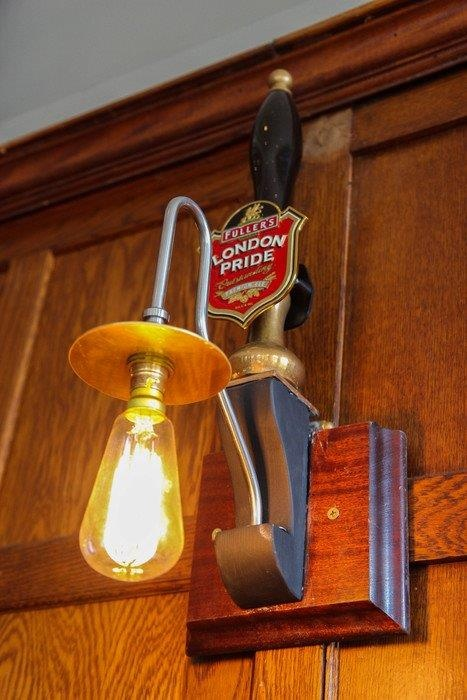 Pub light - brilliant idea                                                                                                                                                                                 More