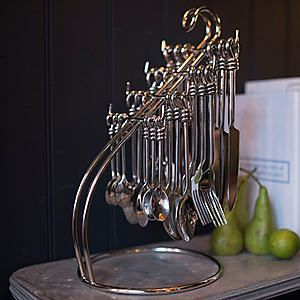 Culinary Concepts 24 Piece Polished Knot Cutlery Set & Stand #kaleidoscope #home