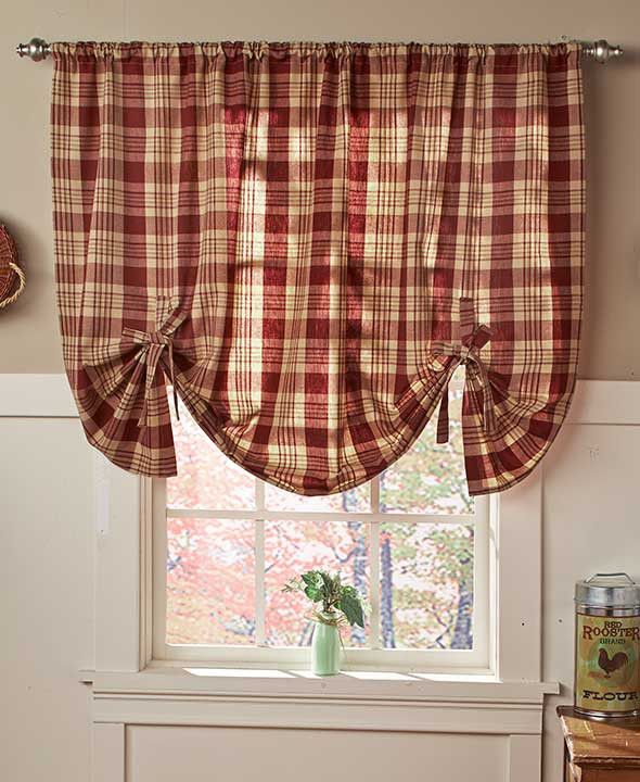 Add The Finishing Touch To Your Rustic Styled Home With Country Check Curtain Or
