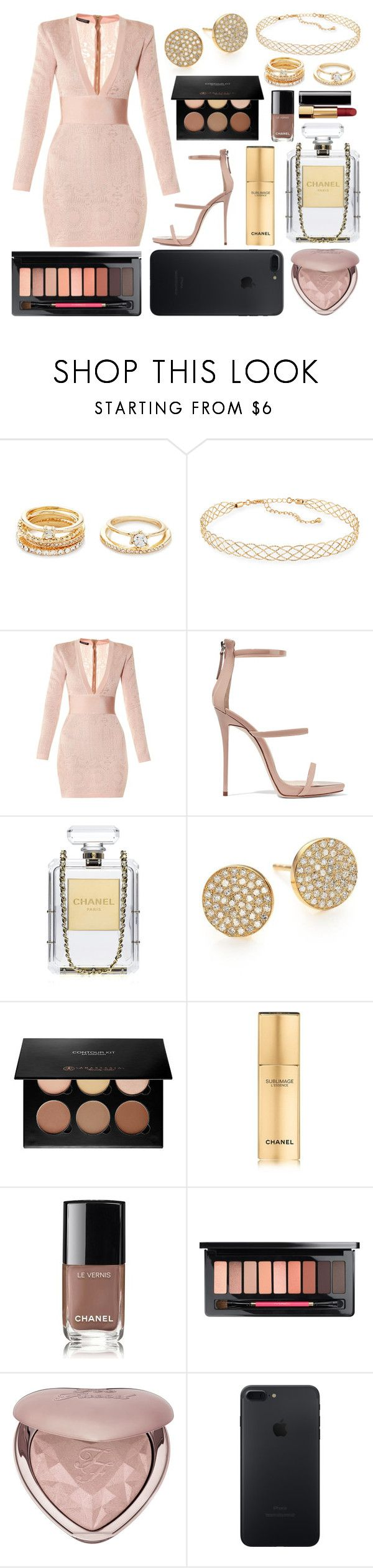 """248."" by plaraa on Polyvore featuring moda, Forever 21, Panacea, Balmain, Giuseppe Zanotti, Chanel, EF Collection, Anastasia Beverly Hills y Too Faced Cosmetics"