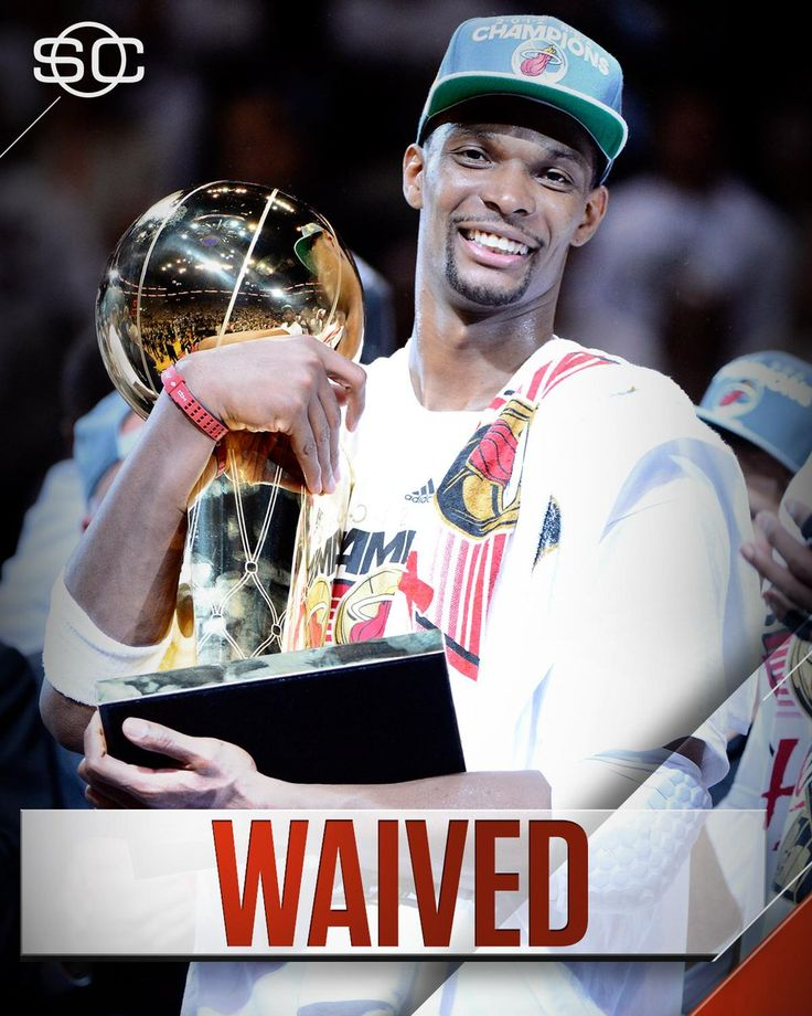 Great Player, Great Run! ... 'This Just In: Heat officially waive Chris Bosh & announce they will retire his number.' http://es.pn/2tO22Lb via SC