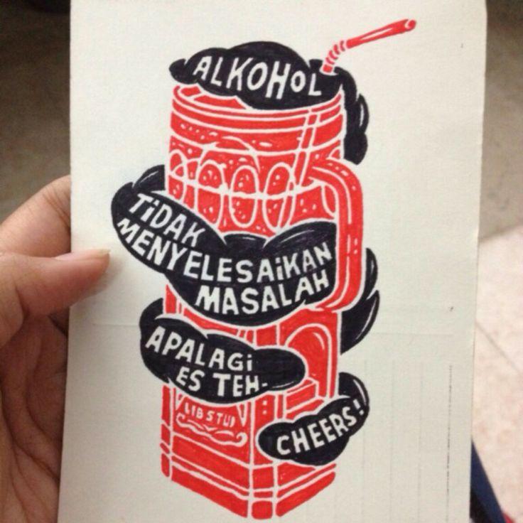 """Alkohol tidak menyelesaikan masalah"" /via @Nicolo D'albergati"