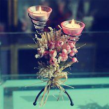 Q свечи украшения свадебные декоративные свечи - горит ужин в ресторане , посвященный в форме сердца искусственные цветы подсвечник(China (Mainland))