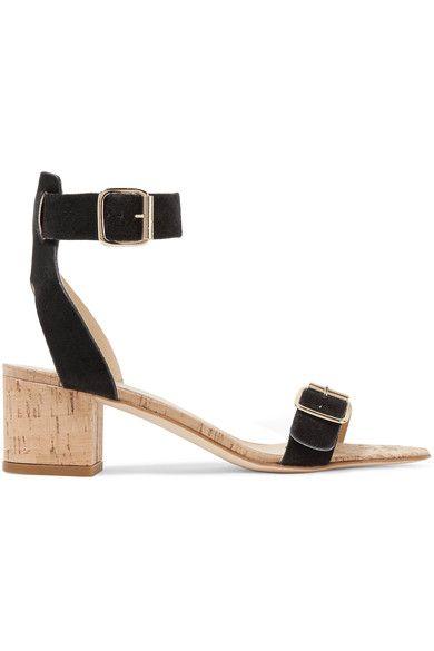 ATP Atelier - Carmen Suede And Cork Sandals - Black - IT
