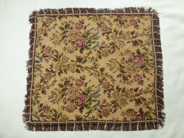French+Antique+woven+silk+tablerunner,+floral+runner+doily+cloth+1800s,++satin/+cotton+trim++22x+25+inch.+French+table+linens,+boudoir+decor+by+AntiquePillows+on+Etsy