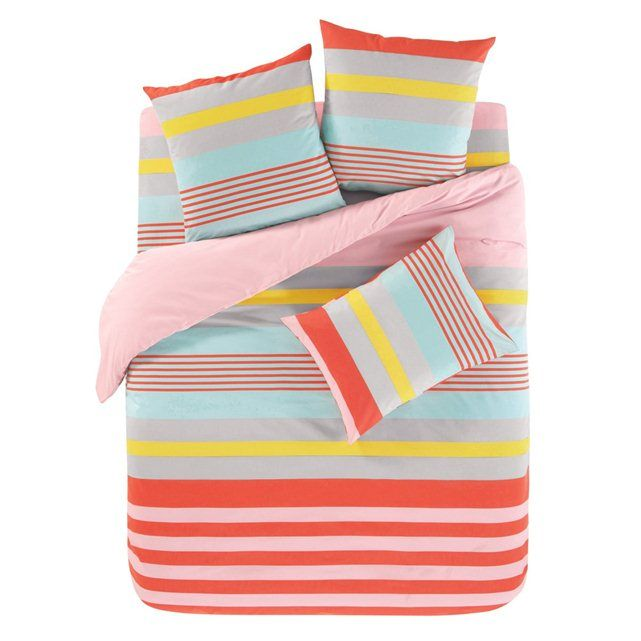 RYTHME Coral Duvet Cover and Oblong Pillowcase(s) Set
