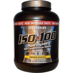 Dymatize Nutrition, Iso•100 Hydrolyzed 100% Whey Protein Isolate, Smooth Banana, 3 Lbs (1,343 G), Diet Suplements -ST