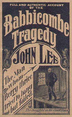 In 1907 a company called 'Daisy Bank Publications' released a *penny dreadful to coincide with the release of John Lee from prison.
