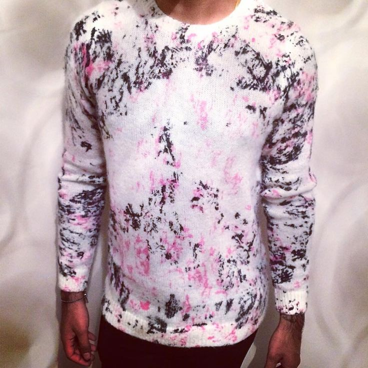 @topman pink and white mohair sweater