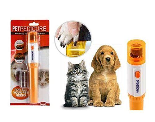 Lima de uñas eléctrica para la manicura de tus mascotas sirve tanto para perro y gato. Es inalambrica y se corre menos riesgo de dañar la uña de tu mascota