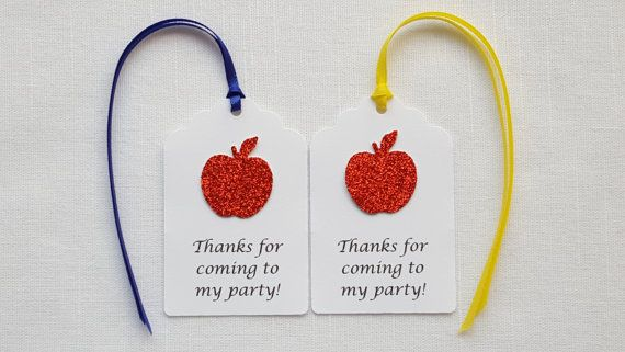 Snow White Red Apple Birthday Party Favor by ImagineCelebrations