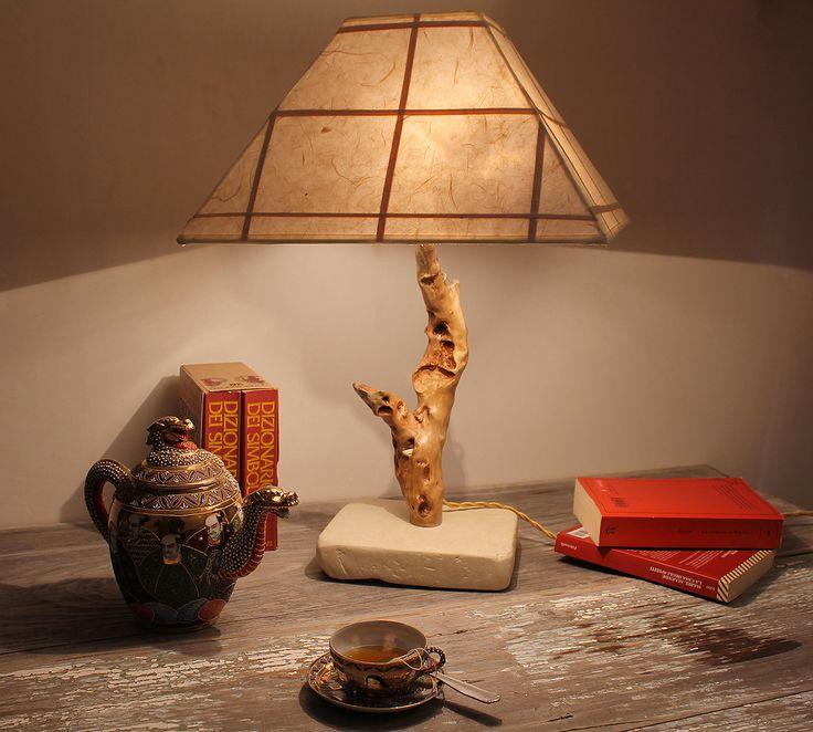 Oltre 25 fantastiche idee su inserti in legno su pinterest - Lampada da tavolo artigianale ...