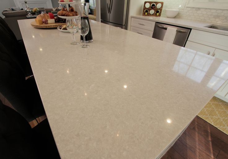 Angela Amp Ro S Countertop Featuring Wilsonart Quartz In